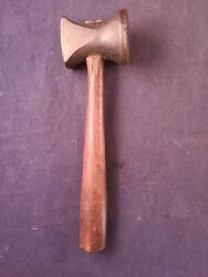 Scarce Vintage Cobblers Or Leather Workers Leveling Hammer Leather Tool