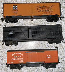 Ho Athearn Kit Freight Cars Fully Assembled, Lot 3, Santa Fe, Southern Pacific