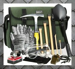 15 Pcs Geology Rock Pick Hammer Kit For Gold Mining And Prospecting Equipment Tool