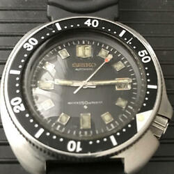 Seiko 2nd Diver 6105-8110 Automatic Analog Black 150m Date Antique Working