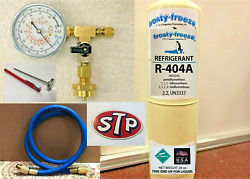 R404a, R-404a, Refrigerant 28 Oz Disposable Can, Charge It Gauge Kit, Stp Decal
