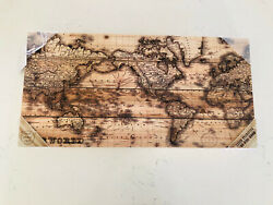 World Wooden Map On The Wall World Map Made Of Wood Decor Room