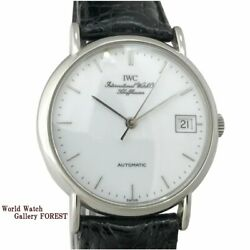 Portfino Iw351320 Menand039s Watches Cursive Logo Fish Crown Automatic Winding