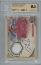 2019 Topps Gypsy Queen Mike Trout Bgs 9.5 Patch Auto /10 Pop 1 Mlb Angels Star