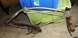 Very Rare Monark Silver King Aluminum Bicycle Frame With Extras