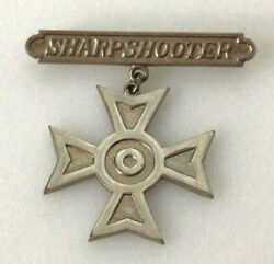 Pre-wwii Army / Marine Corps Sharpshooter Badge Pin Back Style