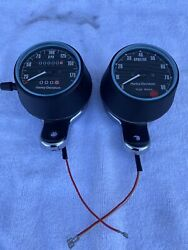 Xlcr H.d. Cafe Racer New Klm Speedometer Rpm Tachometer W/ Mounting Brackets