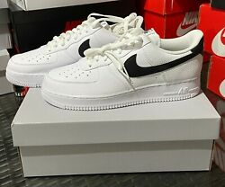 Brand New Nike Air Force 1 '07 Shoes White Black Ct2302-100 Men's Sizes 10-12 Ds