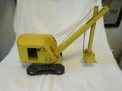 Structo Construction Co Yellow Pressed Steel Steam Shovel