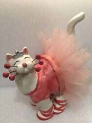 Amy Lacombe Whimsiclay Cat Kelsey The Ballerina Cat Pink #13039