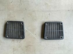 1969 Dodge Charger Three Speaker Grilles Dash Am 8-track Left Right Pair B-body