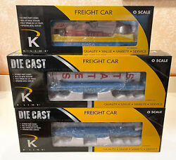 K-line Nasa Train 3 Cars Helicopter Capsule Rockets Mint And Never Run
