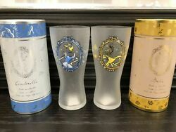 Novelty Cinderella Bell Set Of Tumblers Disney Glass From Japan