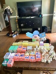 Lot Of 43 Precious Moments Porcelain Figures Many Boxed Members Only Fun Club