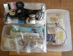 Lg Lot Vintage-to-now Jewelry Earring Necklace Bracelet Findings Mostly Unused