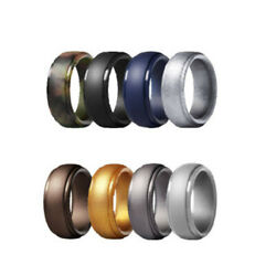 1 Set Fashionable Colors Patterns Silicone Material Rings Maximum Safety Ring