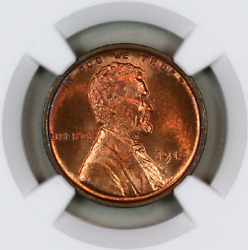 1916-p Ms65 Rd Ngc Lincoln Wheat Penny Registry Quality Collection