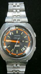 Longines Automatic Men Olympian Ultracron Limited Edition Watch Stainless Band