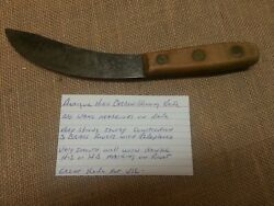 Antique Carbon Steel Skinning Knife Heavy Construction Russell Wilson