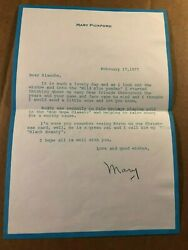 Mary Pickford Very Rare Autographed Letter Bob Hope Classic Wild Blue Yonder And03977