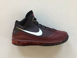 Nike Lebron Vii 7 Qs Christmas Team Red Black Lakers Shoes Cu5133-600 Size 8.5