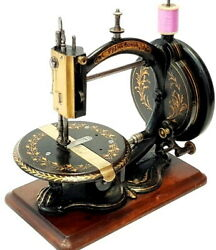 Antique And Rare Sewing Machine Prima Donna By Whight And Mann Circa 1875