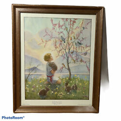 Morning Carol Print By Margaret W. Tarrant Printed In England The Medici Society