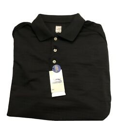 Men's Slazenger Polo Shirt Size Big And Tall 2xl Black Wicking Breathable Golf
