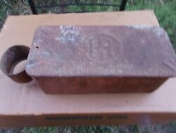Vintage International Harvester Farm Tractor Tool Box With Oil Can Holder Loop