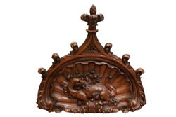 Huge Antique Gothic Architectural Wall Decor, Dragon, Medieval Walnut, 19th Cent