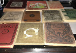 Antique Vintage Lot Of Readers Hymn And Song Books