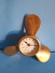 Ship's Clock.beautiful Vintage Nautical Collectible.one Of The Kind.heavy.