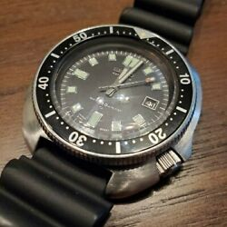 Seiko 2nd Diver 6105-8110 Automatic Analog Black Rubber Belt Oh Antique