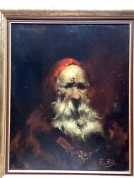 Santa Claus Impressionism Christmas Original French Painting Oil Signed