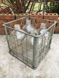 Vintage Milk Crate And Bottles Gallon Garden State Farms New Jersey