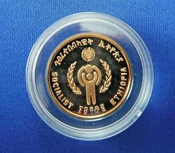 1972 Ethiopia 400 Birr Proof Gold Coin International Year Of The Child1979