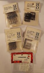 Lot Of 5 New Packs Ho Scale Campbell/grandt Line Windows