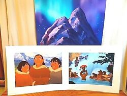 Disney Lithographs - Set Of 4 Brother Bear - In Portfolio And Ready To Frame