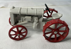 Ertl Die Cast Fordson Tractor 1664 Farm Tractor Toy White And Red Vintage
