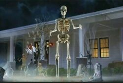 12 Ft Foot Giant Skeleton Animated Lcd Eyes Halloween Prop Home Depot Sold Out