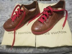 Louis Vuitton Lv Mens Shoes Size Lv 11 Us 12 Leather Red Bottom 100 Authentic