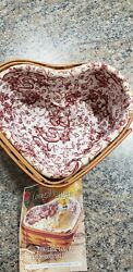 Longaberger 2000 Century Celebration Little Love Heart Basket With Two Liners