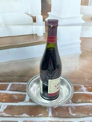 Henry Grady Hotel R Wallace Silver Soldered Wine Champagne Bottle Table Bowl Ga