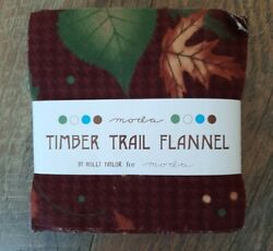 Moda Timber Trail Flannel Charm Pack 42 - 5 Precut Fabric Quilt Squares Sewing