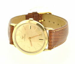 Preowned Rare Vintage Wittnauer Gold Plated Windup Watch With Florentine Finish