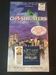 Sealed Ghostbusters Vhs With Movie Ticket Ames Ecto 1 Slimer Real Vintage Rare