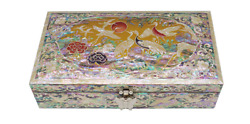 Korean First Tier Jewelry Box Songhak New Mother Of Pearl Luxury Organizer Decor
