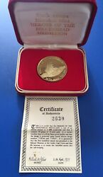 South Africa 1977 Heroes Of The Birkenhead 18ct Gold Medallion Agw 0.9645 Oz 2