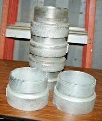Lot Of 10 Universal 1002l-40, 4 X 4 M/f Pipe Extension Couplers Galvanized