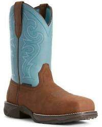 Ariat Women's Latico And Arctic Anthem Pull-on Work Boot - Square Toe Tan 10 M